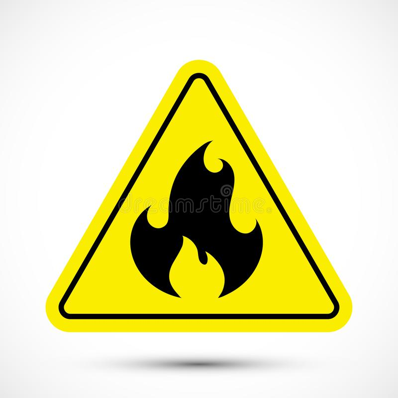 Fire warning sign royalty free illustration