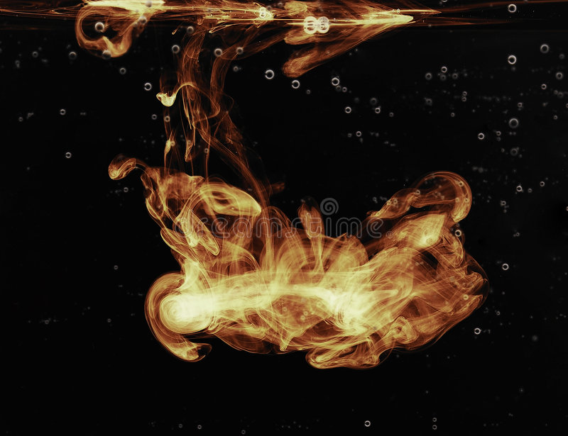 Fire in the water. Fire flaming in the water royalty free stock photos