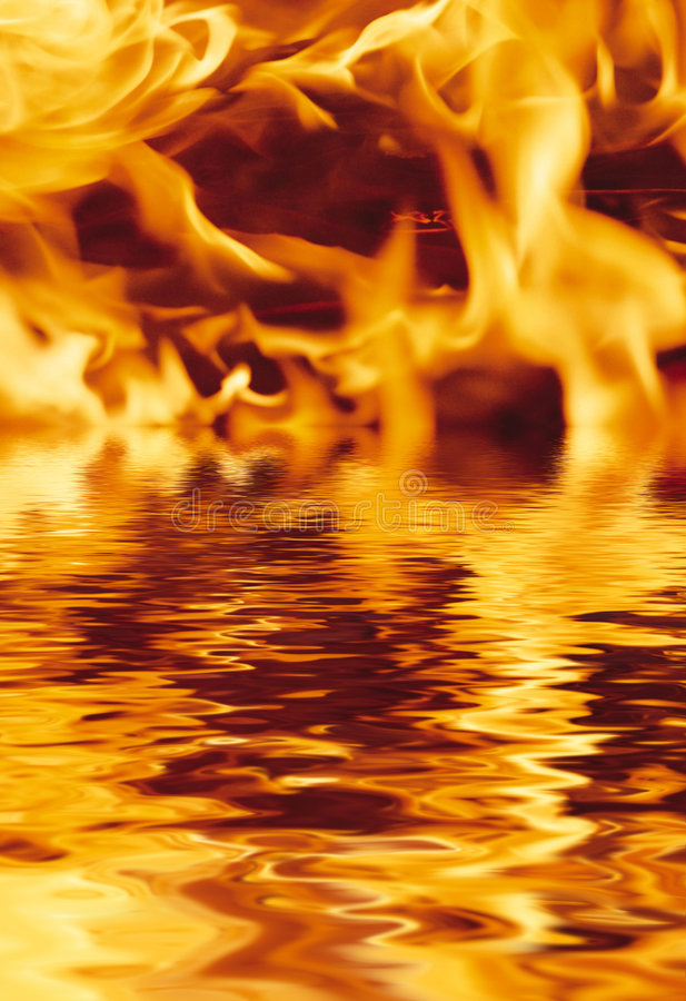Download Fire and water stock image. Image of sparks, heat, abstract - 7712131
