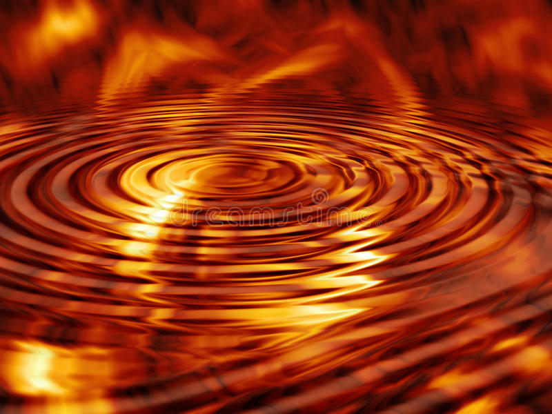 Fire Waves stock illustration