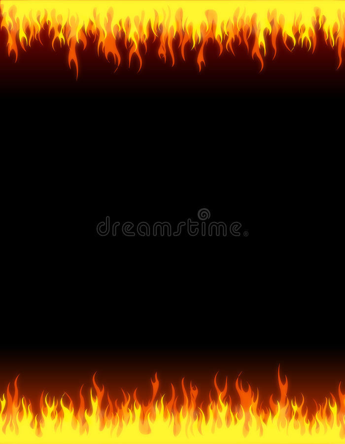 Fire web background border. Fire, flames web site backgrounds / borders royalty free illustration