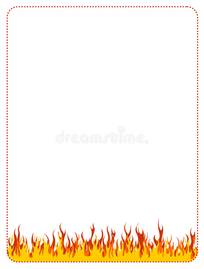 Fire web background border. Fire, flames web site backgrounds / borders stock illustration