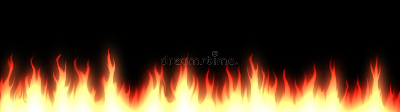 Fire web header / banner royalty free illustration