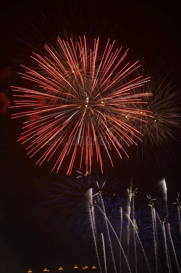 Free Fire Works-3 Royalty Free Stock Photography - 4360357