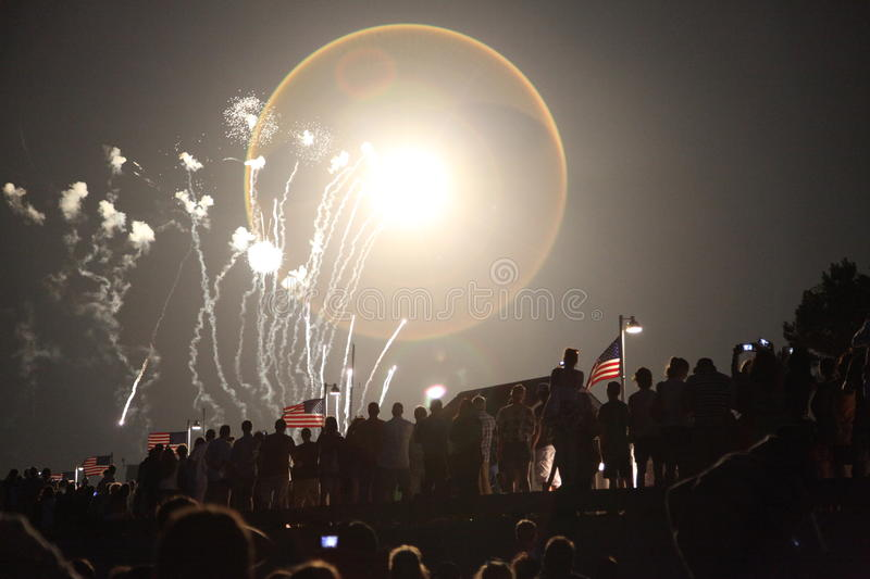 Fire works royalty free stock images
