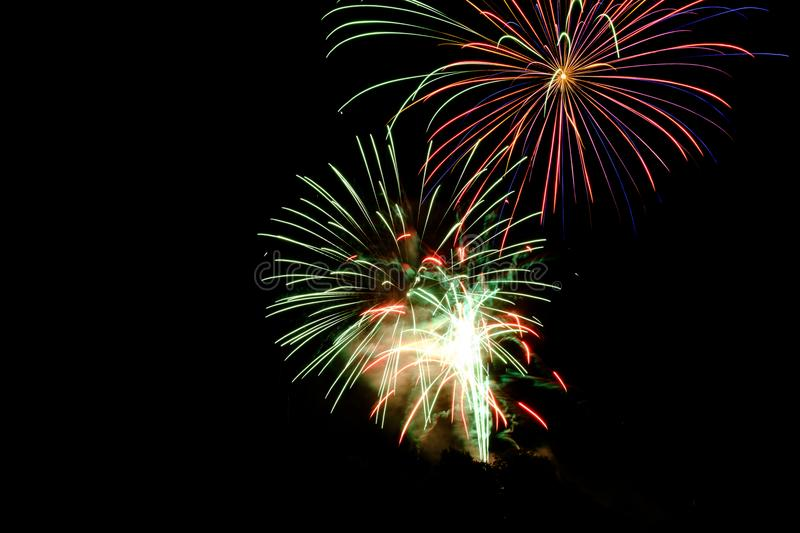 Fire Works during Night Time royalty free stock image