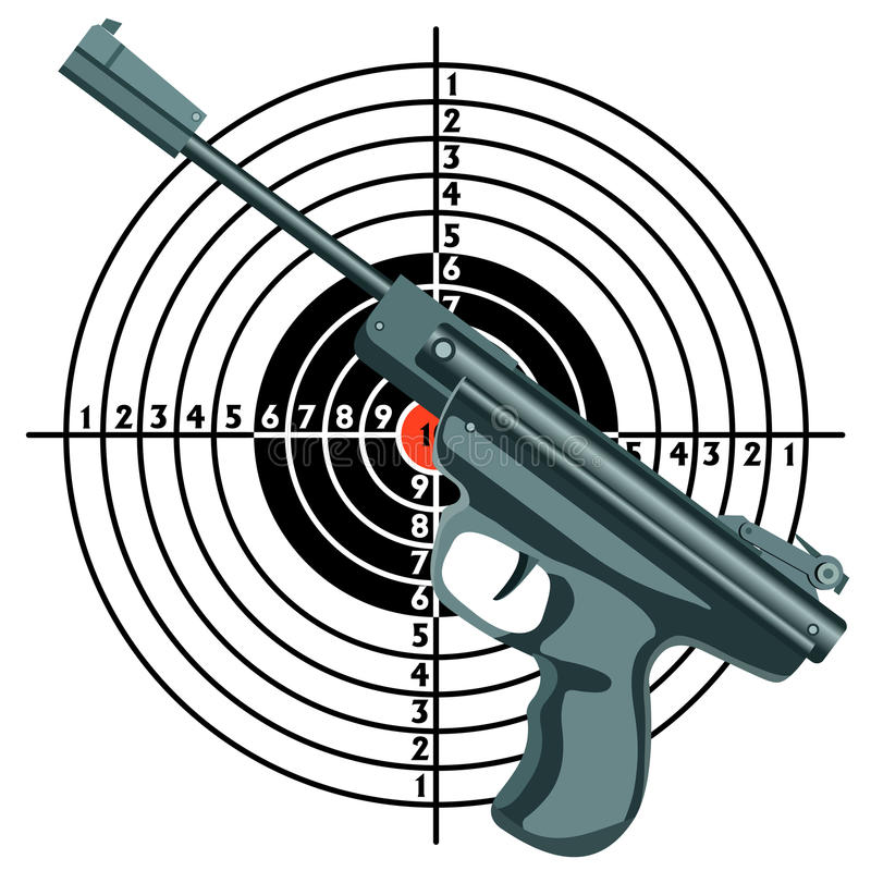 Download Firearm, The Gun Against The Target. Stock Vector - Image: 24477445