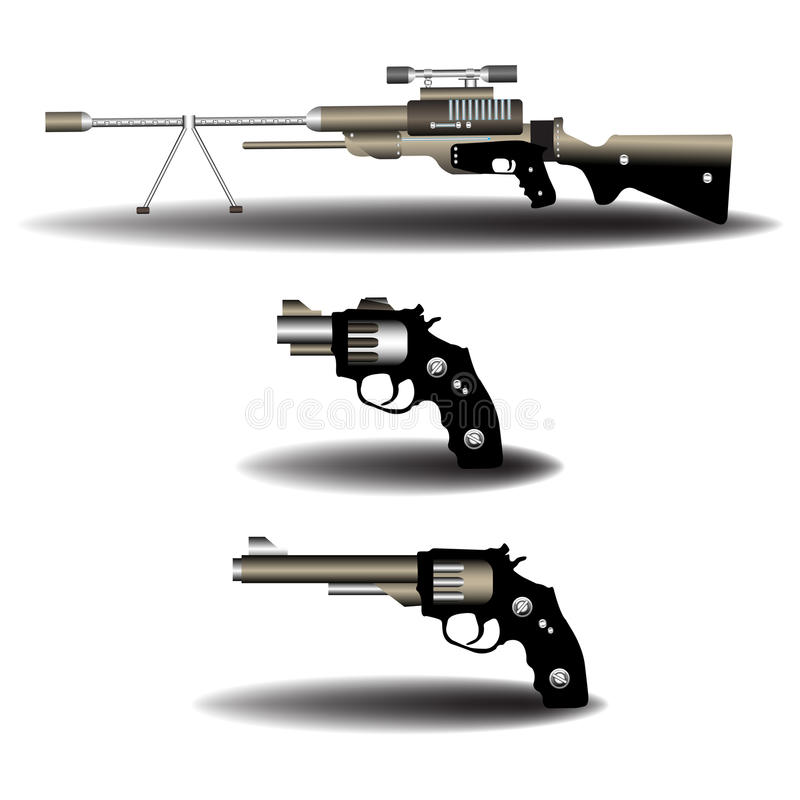 Download Firearms stock vector. Image of caliber, automatic, image - 13278067