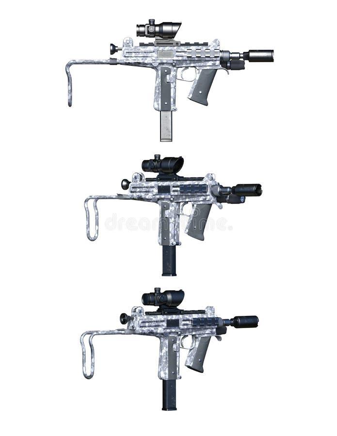 firearms illustration stock