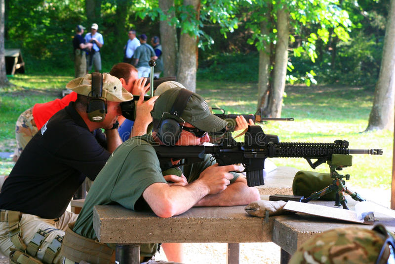 Firearms Class stock image