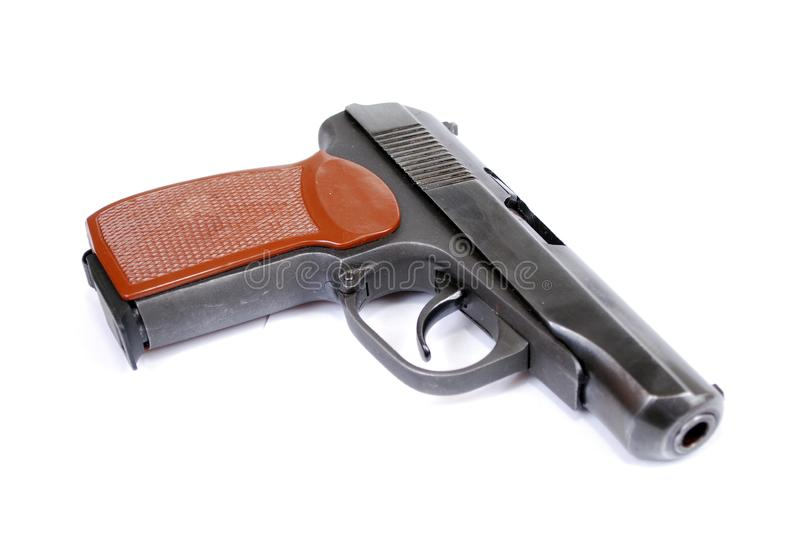 Firearms of limited defeat a service pistol on a white background. It is isolated royalty free stock images