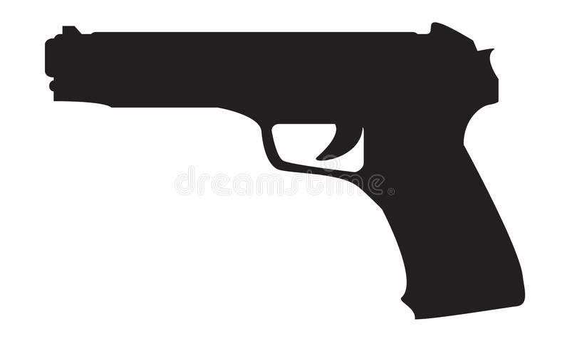 firearms Silhouette d'une arme à feu illustration stock