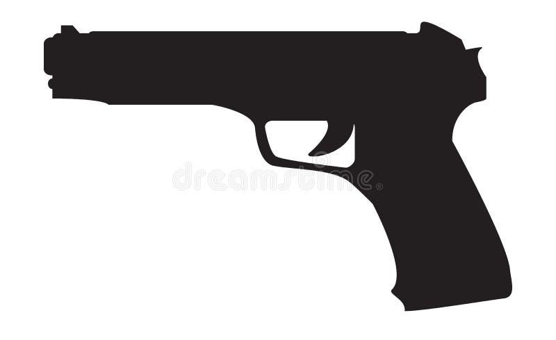 firearms Silhueta de uma arma ilustração stock