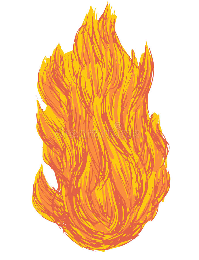 fireball ilustração do vetor