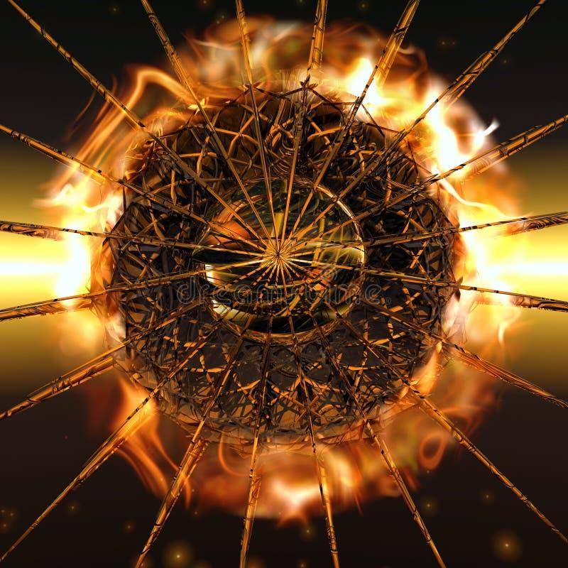 fireball vektor illustrationer