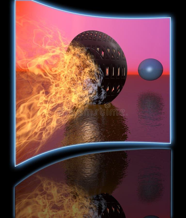 fireball ilustração royalty free