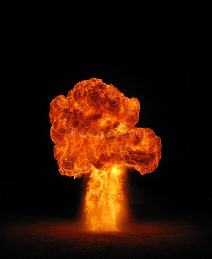 Fireball. Wax bomb explosion creating a mushroom cloud fireball