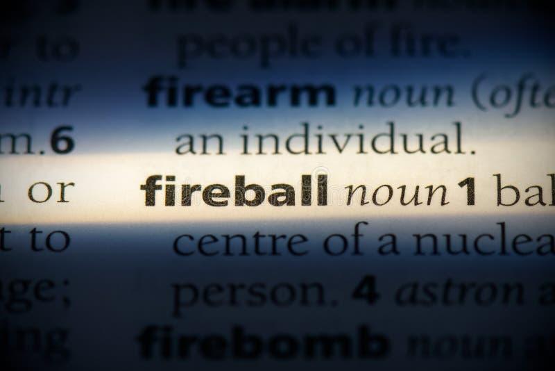 Fireball fotografia de stock royalty free