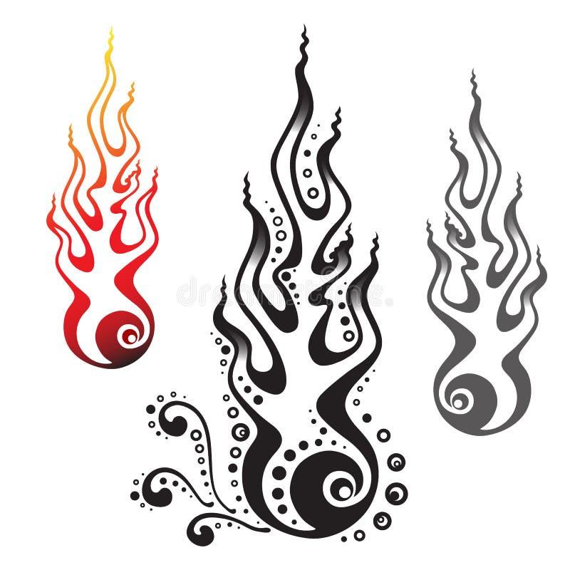 fireballs vektor illustrationer