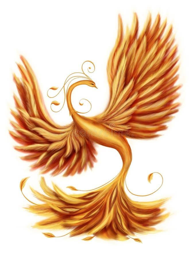 Firebird mágico ilustración del vector