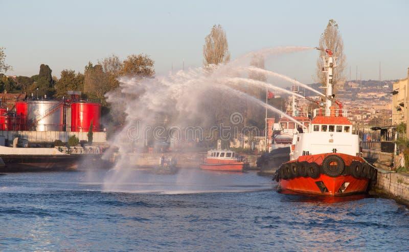 fireboat στοκ εικόνα