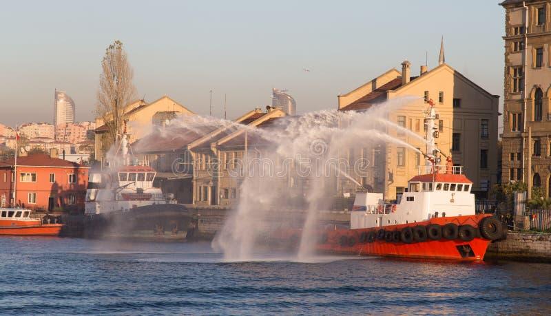 fireboat στοκ φωτογραφίες με δικαίωμα ελεύθερης χρήσης
