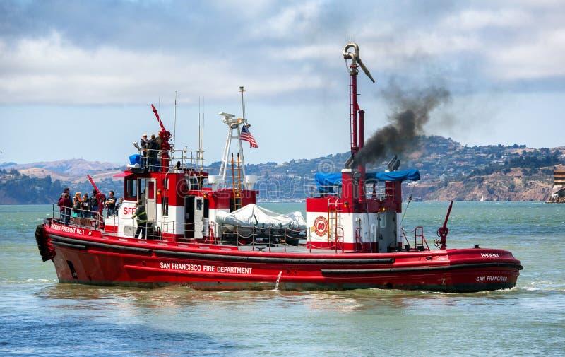 fireboat στοκ φωτογραφία