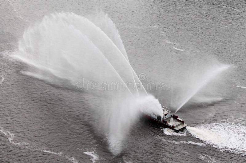 Fireboat Ballet #1 stock photo