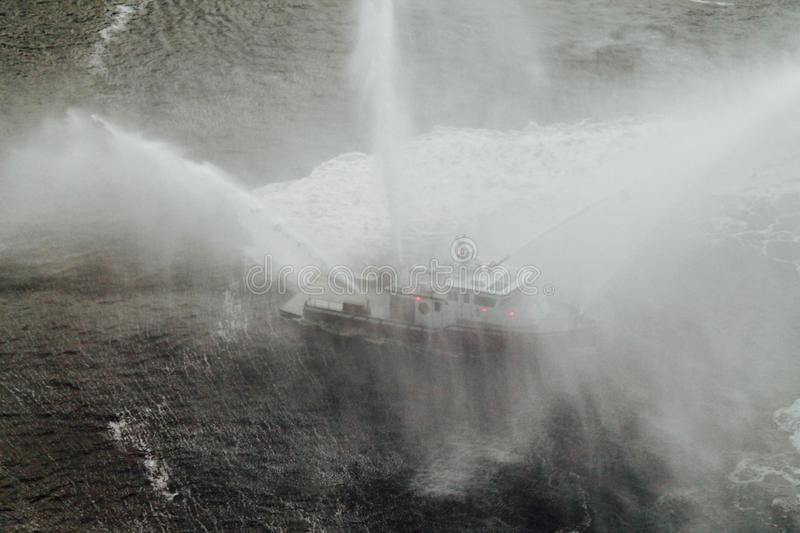Fireboat Ballet #1 stock photos