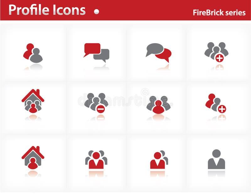 firebrick σύνολο σειράς σχεδια&ga διανυσματική απεικόνιση
