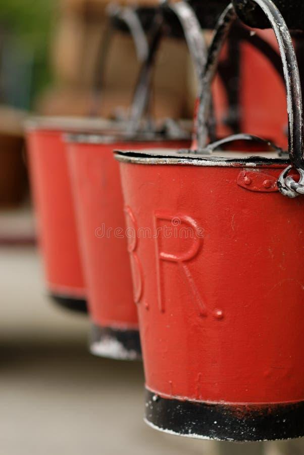 firebuckets rocznik obraz stock