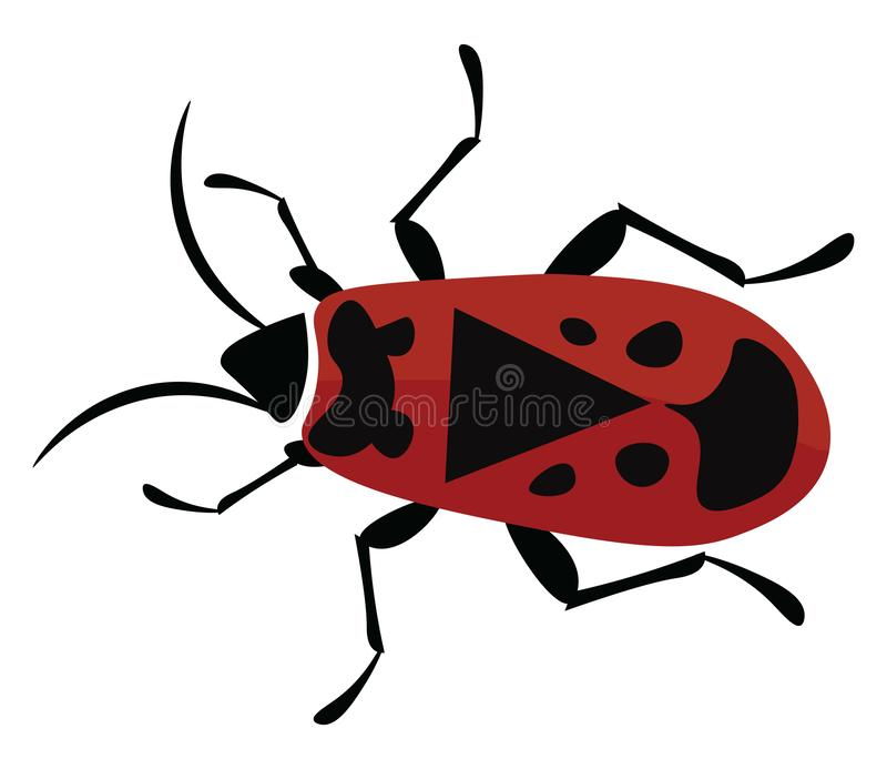 Firebug, vector or color illustration stock illustration