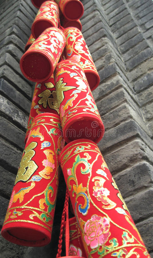 Firecracker. For chinese new year royalty free stock photography