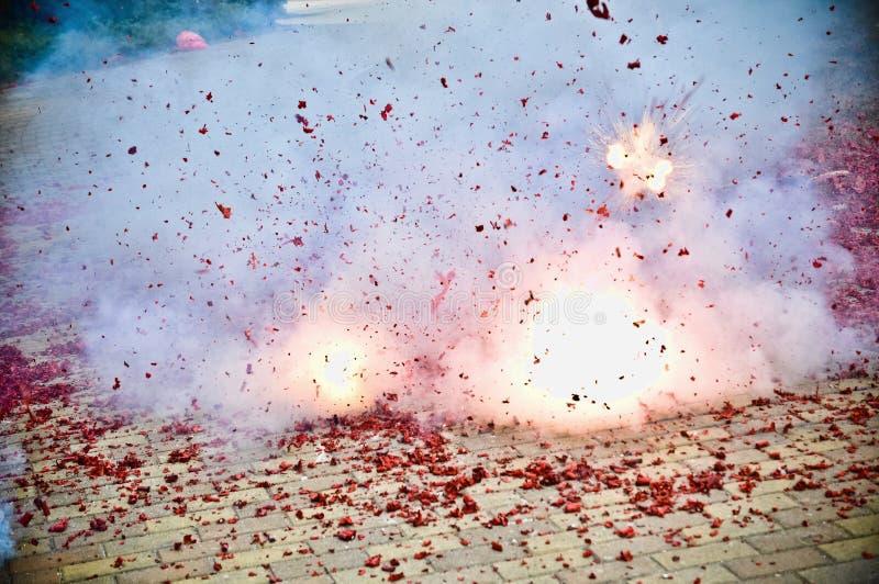Firecracker. The firecracker explosions of instant stock photos