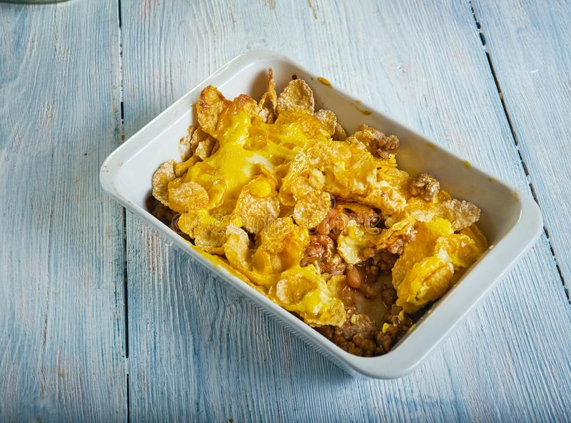 Firecracker Casserole. Old tex-mex dish that combines stock image