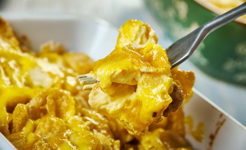Firecracker Casserole. Old tex-mex dish that combines stock images