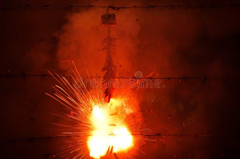 Firecracker in chinese new year. A firecracker in chinese new year cerebration royalty free stock photos
