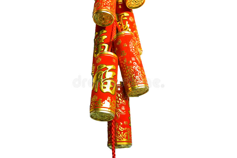 Firecracker of the chinese new year. The firecracker of chinese new year is meaning good luck in chinese new year royalty free stock image