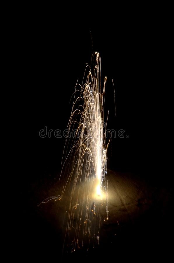 Firecracker during festival in India stock photo