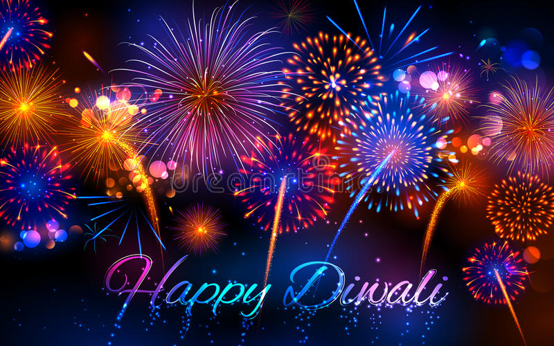 Download Firecracker On Happy Diwali Holiday Background For Light Festival Of India Stock Vector