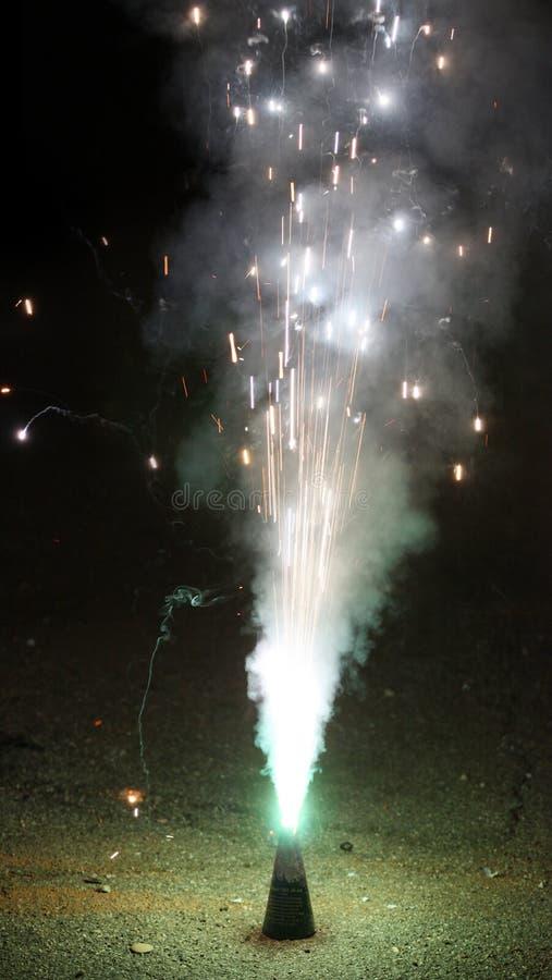 Firecracker on New Year's Eve. Burning firecracker on New Year's Eve stock photo