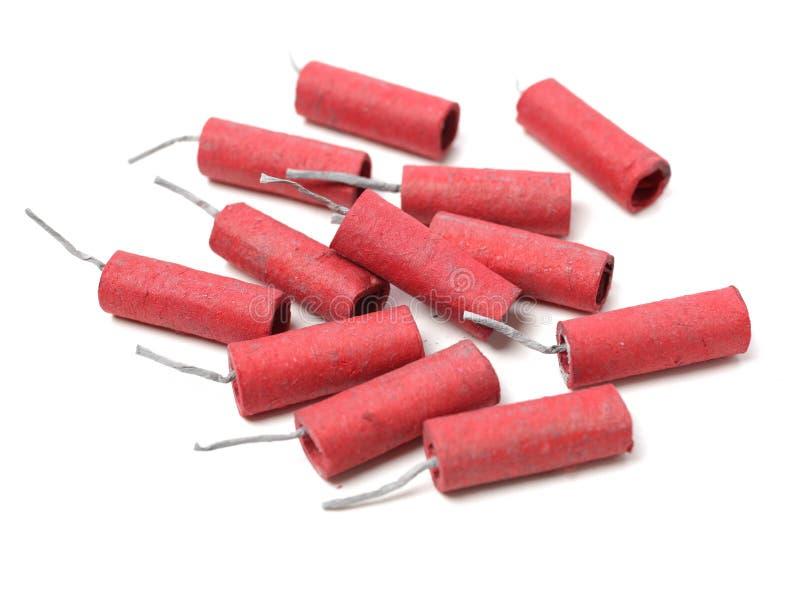firecrackers κόκκινο στοκ εικόνες με δικαίωμα ελεύθερης χρήσης