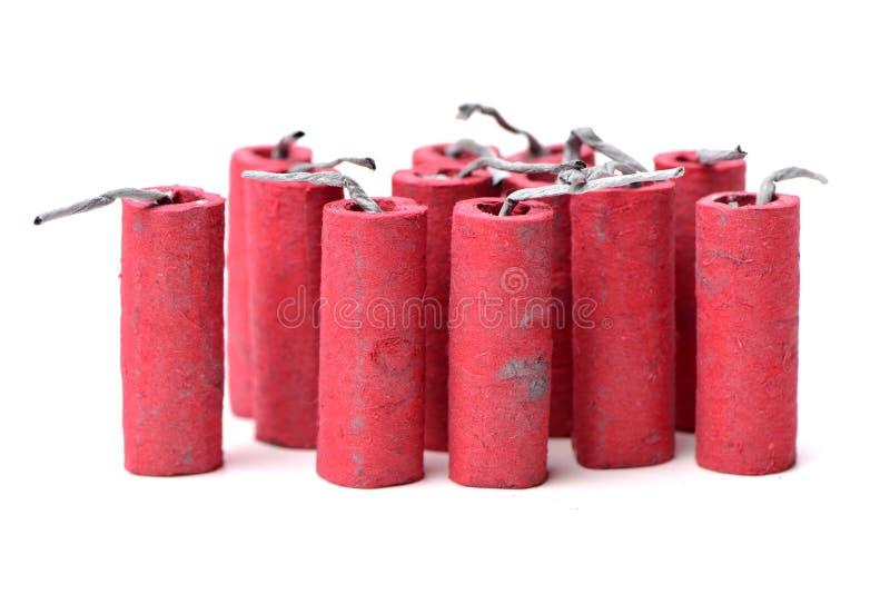 firecrackers κόκκινο στοκ εικόνα με δικαίωμα ελεύθερης χρήσης