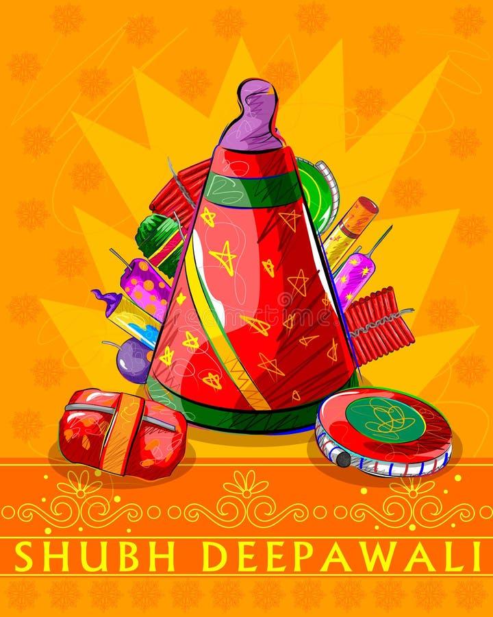 Firecraker assorti pour la célébration de Diwali illustration stock