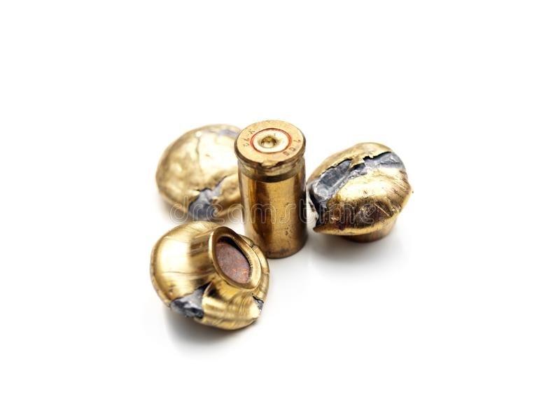 Fired bullets royalty free stock photography