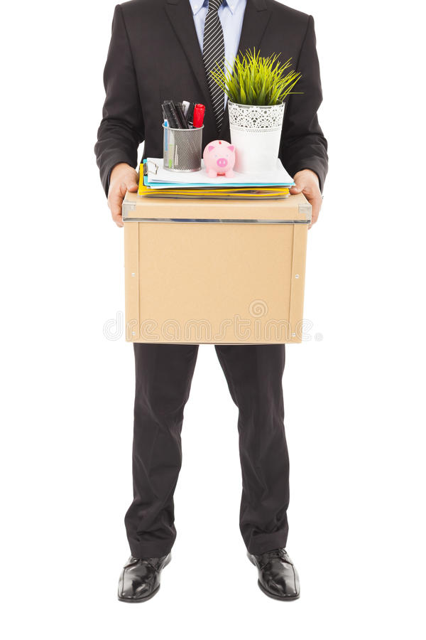 Download Fired Businessman Carrying A Box Stock Photo - Image: 38786978