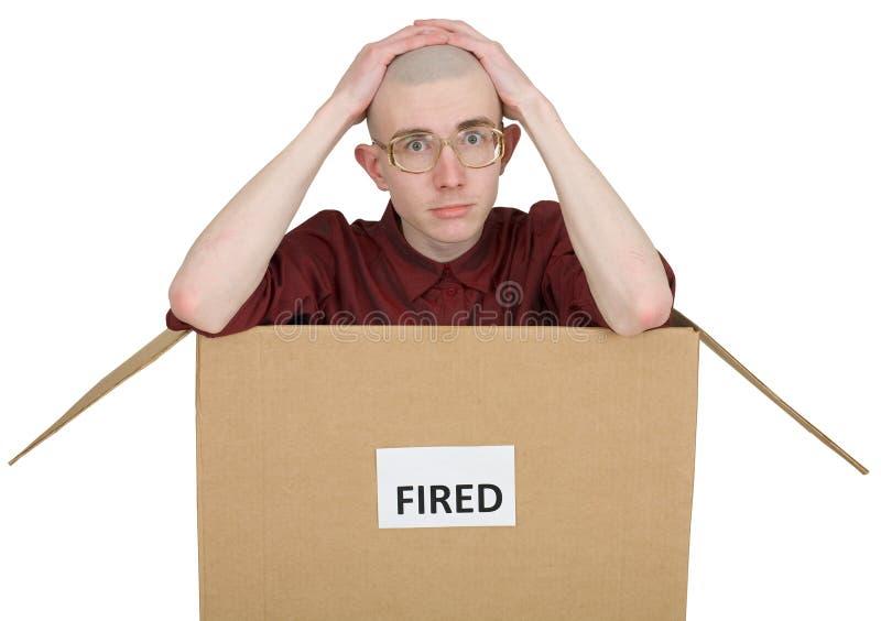 fired man στοκ φωτογραφία με δικαίωμα ελεύθερης χρήσης