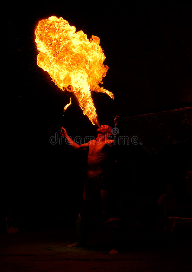 fireeater arkivfoton