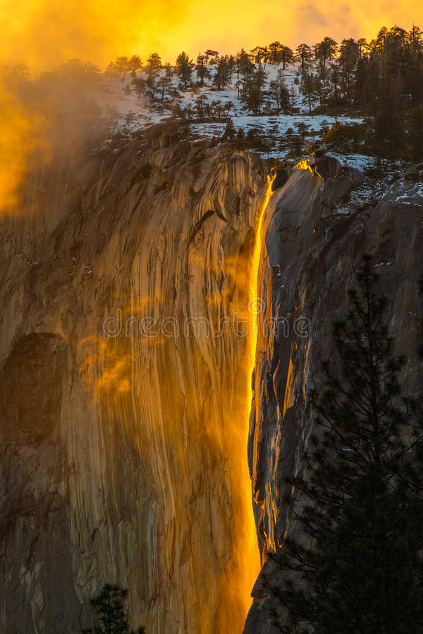 Firefall photographie stock