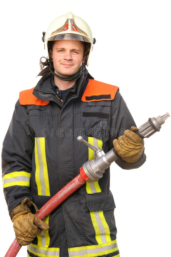 Firefighter. Picture from a young and successful firefighter at work